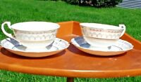 """Vintage """"Crownford""""  China  Set of 2 Cups & Saucers Made in England"""