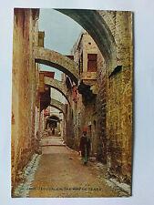 Jerusalem Vintage colour Postcard c1910 The Way of Tears