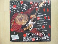 "Rod Stewart autógrafo signed ""Foolish behaviour"" lp vinilo"