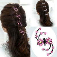 6PCS Women's Hair Barrette Clips Pins Crystal Hairpin Wedding Bridge Accessories