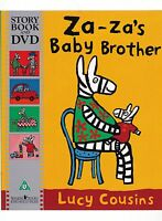 Za-Za's Baby Brother by Lucy Cousins, Book and DVD New