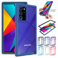 For Samsung Galaxy  S20 FE 5G Case Clear Rigid Plastic Hybrid Armor Bumper Cover