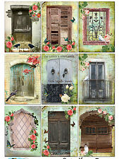 9 Primitive Doors Shabby Chic Hang Tags Scrapbooking Paper Crafts (125)