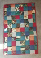 Stunning handmade quilted patchwork quilt/ throw