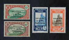 CKStamps: Niger Stamps Collection Scott#B7-B10 Mint H OG