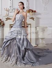 Long Strapless Plus Sizes Custom Bridal Ball Gowns Wedding Dresses Trains