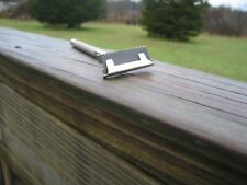 Nice Crosby Single Edge Safety Razor Silver Tone