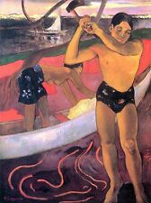 PAUL GAUGUIN MAN WITH AXE OLD MASTER ART PAINTING PRINT POSTER 2185OMA