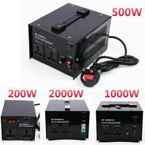 220V-110V Step Up Down Voltage Transformer Converter For 200/500/1000/2000/3000W