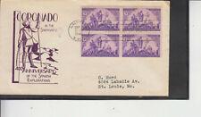 FDC #898 CORONADO 400TH ANNIVERSARY MACOS CACHET ALBUQUERQUE 9/7/40 FLAP FREE