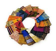 50 Schmuckbeutel Säckchen Geschenkbeutel Verpackung Sari Stoff Beutel 10x10cm