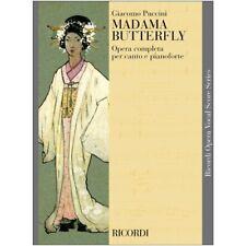 G. Puccini Ricordi Madame Butterfly Spartito per Canto e Pianoforte