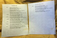 ELSA LANCHESTER Owned J. Raymond Henderson Lyric Sheet THE CANNIBAL QUEEN