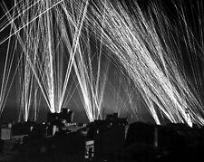 New 8x10 World War II Photo: Anti-Aircraft Fire During Air Raid on Algiers, 1943