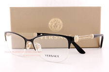91afb0fe5ce Brand New VERSACE Eyeglass Frames 1228 1291 BLACK GOLD Women 100% Authentic  53