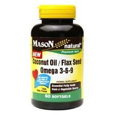Mason Natural Coconut Oil/flax Seed Omega 3-6-9 60ea 311845169655t451