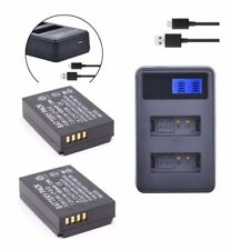 2xBattery LP-E12 LPE12 +USB Dual Charger for Canon 100D Rebel SL1 camera AU-ship