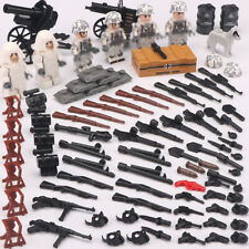 6pcs WW2 German Soldier Figures Building Block with Military Weapons Toys Bricks
