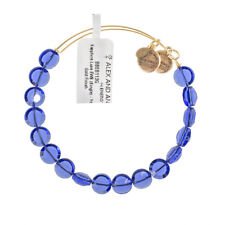 Alex and Ani Sapphire Luxe Bead Gold Bangle BBEB113G - RRP £33