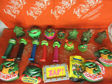 TMNT Ninja Turtles Lot of Candy Containers Pez Meal Toys Shoe Bitter & Moree