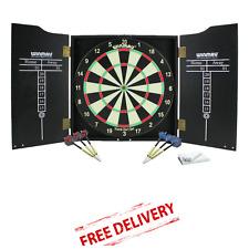 Winmau Dartboard Cabinet Darts Set Complete Dart Board For Full Bristle Game