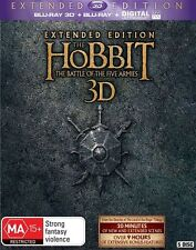 The Hobbit The Battle of The Five Armies Extended Edition blu ray & 3D RB