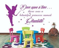 Once Upon a Time Princess Charlotte Wall Sticker Decal Bed Room Art Girl//Baby