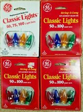 4 Packs GE String a Long Classic Lights Replacement Bulbs / Covers  5V WX6-25/50