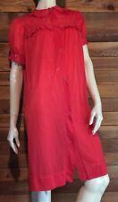 Vintage Red Size Small Nylon Robe #6778
