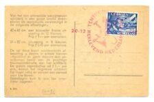 NEDERLAND WW II -1942 AK SPEC STEMPEL + LEGIOEN LEGER NEDERLAND -F/VF