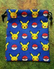 Blue Pokémon Pikachu dice bag, card bag, makeup bag