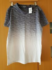 NEW! MENS HOLLISTER GRAY WHITE OMBRE CASUAL SUMMER T-SHIRT TOP COTTON SMALL