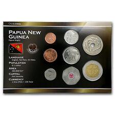 1996-2009 Papua New Guinea 1 Toea-2 Kina Coin Set Unc - SKU #87157
