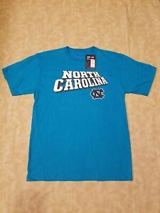 Champion University North Carolina Aqua Blue Short Sleeve Crew Neck T-Shirt L