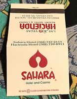 Vintage Sahara Hacienda matchbook #563 Las Vegas NV free ship