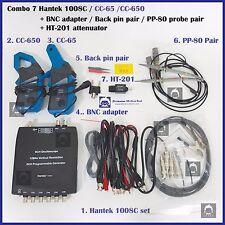 Combo 7 Hantek 1008C CC65 CC650 / PP80 probe 2pcs / backpin 2pcs / BNC  /HT201
