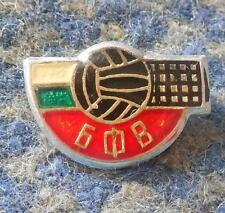 BULGARIA VOLLEYBALL FEDERATION UNION 1980's GREATER SILVER VERS. PIN BADGE