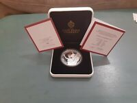 2021 1 OZ Silver Proof Queen's Virtues Victory Coin 1st Issue St. Helena Rare