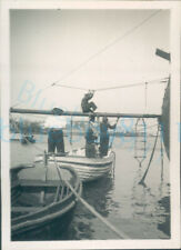 More details for 1951 girl guides photo ts foudroyant climbing into training ship 3.5*2.25