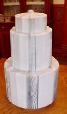 "VINTAGE ART DECO SKYSCRAPER-WEDDING CAKE CEILING GLOBE, 20"""