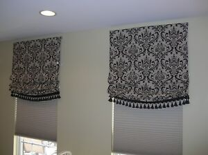 RELAXED ROMAN SHADES IN YOUR FABRIC, UP TO 40W X 60L  ALL SIZES AVAIL