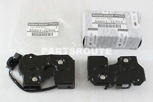 Nissan GTR 370Z G25 G35 G37 Q60 Genuine Left & Right Hood Lock Latch Pair LH&RH