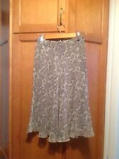 Women's Ann Klein Gray Paisley Flared Skirt- size 2P