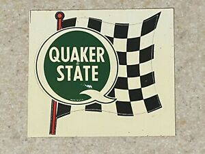 Quaker State Checkered Flag Decal  - Original