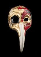 Maschera Turco Di Venezia A Laong Naso Symphonia Lunghi Nero VG19 1519
