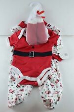 Baby Gear My First Christmas Santa Suit Footie Socks 0-3 mo Newborn Infant onesi
