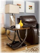 Ashley Square End Table Rollins Dark Brown T628-2 Table NEW