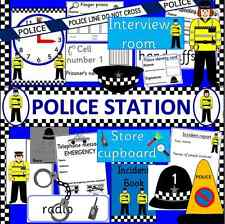POLICE STATION role play resource CD -EYFS/ KS1-Outdoor play, People who help us