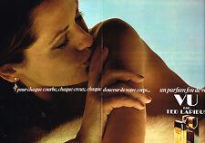 PUBLICITE  1977   TED LAPIDUS  parfum VU ( 2 pages)