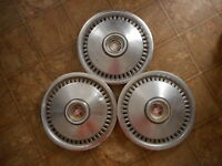 Mercury Cougar Vintage Hubcaps 70 to 76 ? 70's ? AS IS as found Model Lot of 3